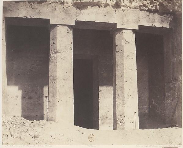 Музей Метрополитена. Фотография гробницы Амона, 1851 год