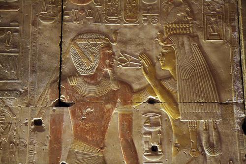 Храм Абидос древнего Египта. фото