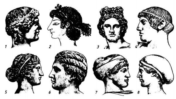 мужские прически в древней греции