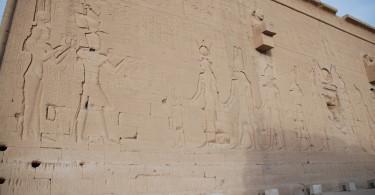 Храм Дендера: Клеопатра, Марк Антоний и Цезарион