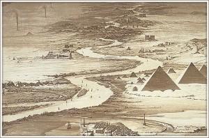Гравюра, Пирамиды Гизы, 1841 год