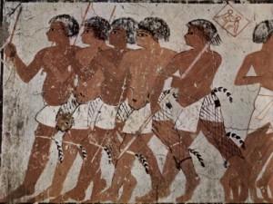 Одежда древних египтян, войско солдат