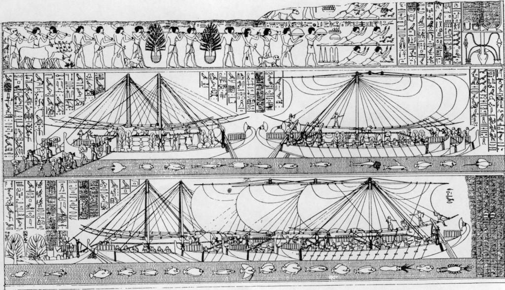 Корабли экспедиции Хатшепсут фото