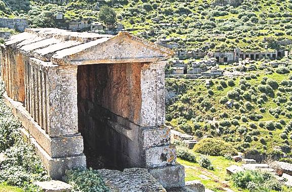 Руины города Сирин - древний Пантополис, Ливия фото