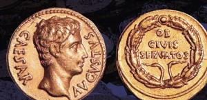 Римские монеты при Октавиане Августе фото
