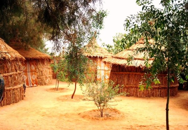 Оазис Ливии Гат, жилища туарегов фото