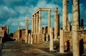 Город Ливии Лептис-Магна фото