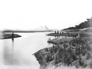 Набережная Нила. Старинные фотографии Древнего Египта.