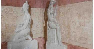 Искусство древнего Египта. Живопись египетской комнаты в Парламенте Турина, Италия картинки фото