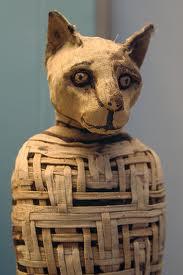 Мумия кошки в Древнем Египте фото