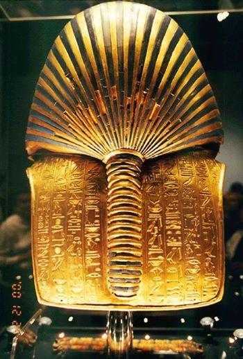 Маска Тутанхамона. Египетский музей древностей. Каир. Украшения Древнего Египта фото