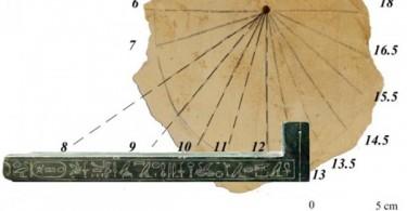 Солнечные часы Древнего Египта фото