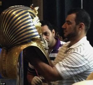 Маска Тутанхамона. Египет. Новости. Фото.