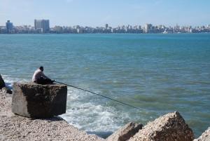 Набережная Средиземного моря. Александрия, Египет фото