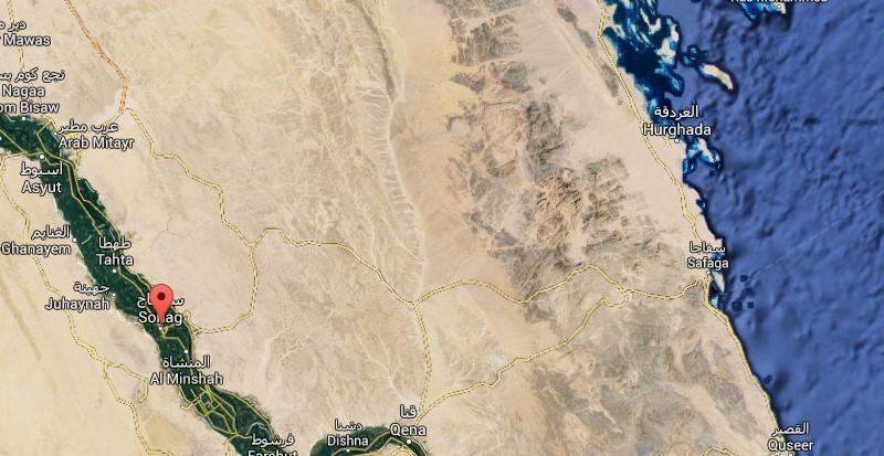 Карта Хургады и Сохаг, Египет