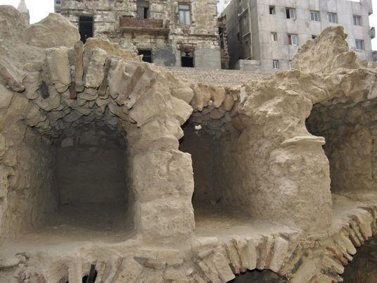 Руины театра Рима Эль-Абд до разрушения.