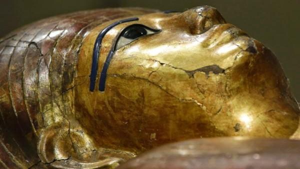 Внутренний саркофаг Ха в Египетском музее Турина, Италия.