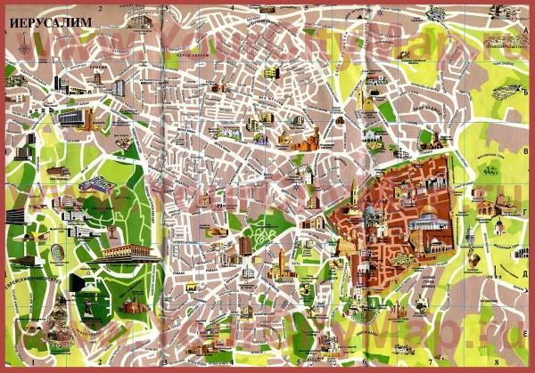 Иерусалим: карта города