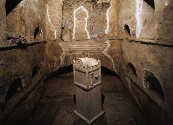 Некрополь Ватикана. Фото.