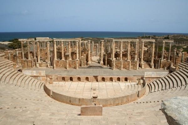 Римский колизей Лептис-Магна, Ливия