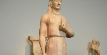 скульптура древней греции коре