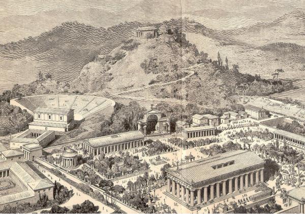 стадион для игр древней греции фото