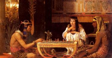 египетские шахматы фото