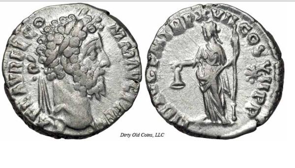 Римская монета пенни де