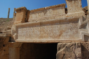 Inscription_Theatre_Leptis_Magna_Libya