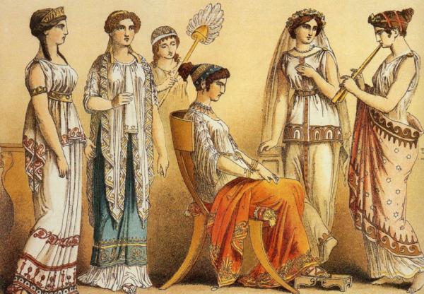 одежда греции женская