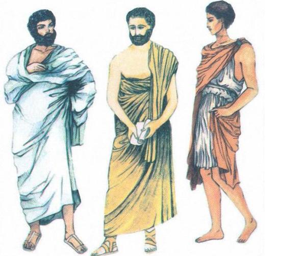 мужская одежда древней греции