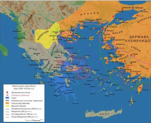 персы в греции