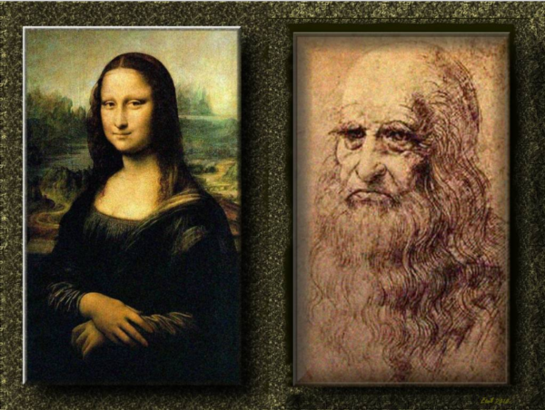 мона лиза и леонардо давинчи
