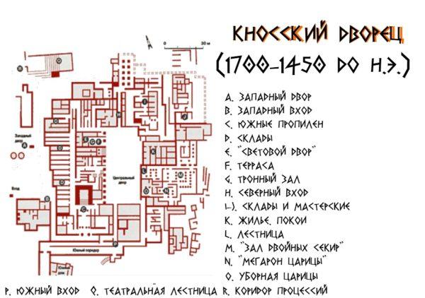 дворец кносса план
