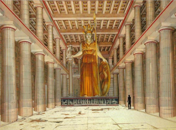 Статуя Афины в Акрополе