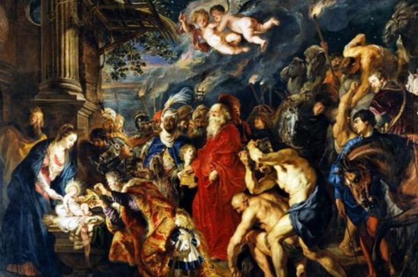 Поклонение волхвов Рубенса Музей Прадо в Мадриде