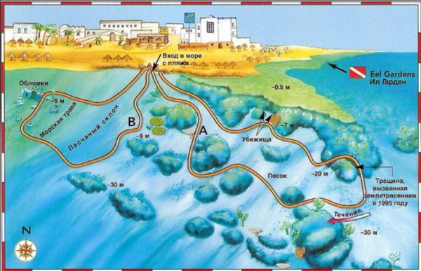 рифы дахаба
