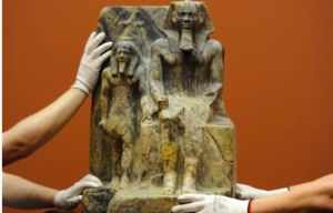 an analysis of the statue of sahure and a nome god